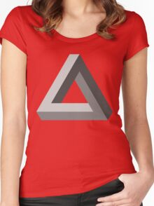 The Impossible Triangle Women's Fitted Scoop T-Shirt