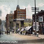 1910 Kansas City, Missouri 8th Street Looking West  by Steve Sutton