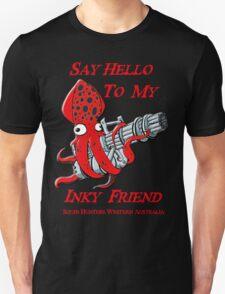Squid Hunters WA Team Red Font Say Hello T-Shirt