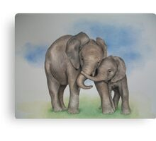 me and my mom. Canvas Print