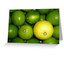 Lemon and Limes Greeting Card