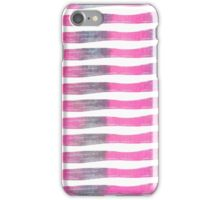 Pink and Purple Watercolor Brush Stroke Stripes iPhone Case/Skin