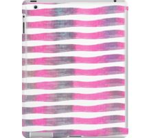 Pink and Purple Watercolor Brush Stroke Stripes iPad Case/Skin
