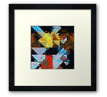 Grungy Colors Framed Print