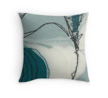 abstract from vertebrae Throw Pillow