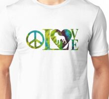 PITBULL PEACE & LOVE Unisex T-Shirt