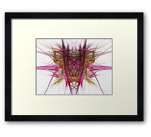 Demon in the flame Framed Print