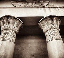 egyptian lotus column detail by debrapeck