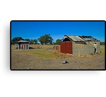 Abandoned sheds Canvas Print