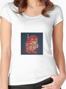 Jumping Robot 1 Women's Fitted Scoop T-Shirt