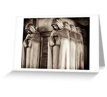 reverent procession Greeting Card