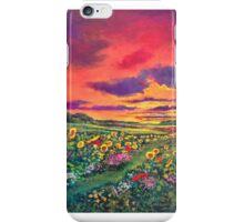 Sunset and Sunflowers. iPhone Case/Skin