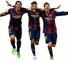 Messi, Suárez and Neymar by Enriic7