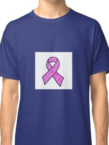 Breast Cancer Ribbon Zentangle Classic T-Shirt