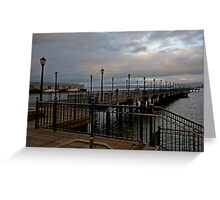 San Francisco Pier Greeting Card