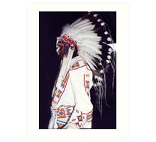 Blackfoot Indian Chief Art Print