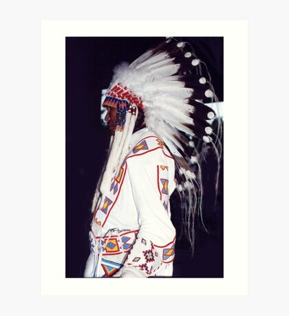 Blackfoot Indian Chief Art Print
