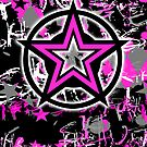 Pink Star Graphic by Roseanne Jones
