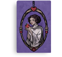 Snow Organa and the Poisoned Death Star Canvas Print