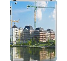 Panoramic view of a building construction iPad Case/Skin