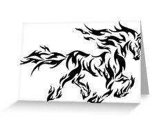 Horse Tribal Pattern Greeting Card
