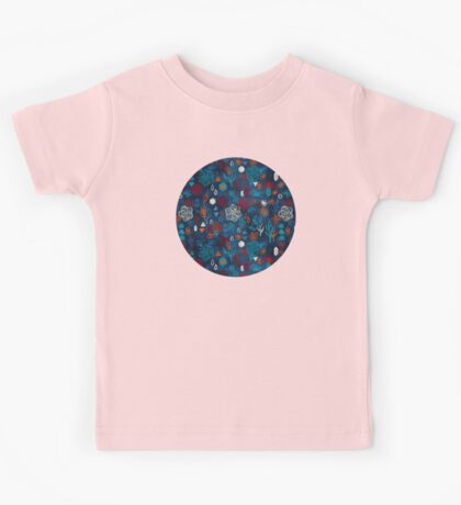 Earth, Water, Fire, Air - a watercolor pattern Kids Tee