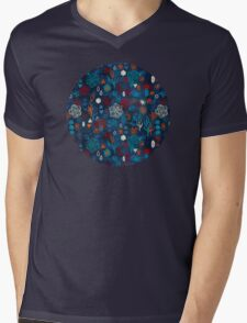 Earth, Water, Fire, Air - a watercolor pattern Mens V-Neck T-Shirt