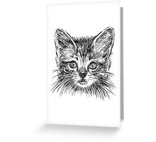 Cat art Greeting Card