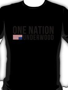 One Nation. Underwood. (Stacked) T-Shirt