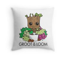 Groot of the Loom Throw Pillow