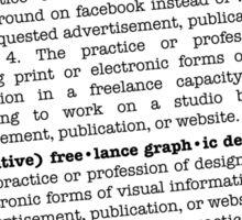 graph•ic de•sign Sticker