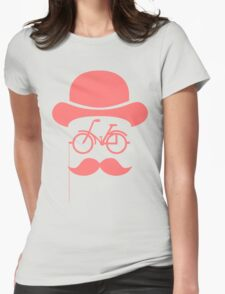 Retro cylinder bicycle Womens Fitted T-Shirt
