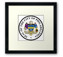 Seal of Philadelphia Framed Print