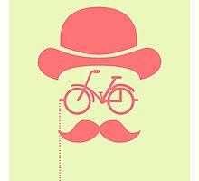 Retro cylinder bicycle Photographic Print