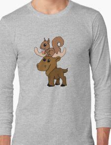 Moose, squirrel and cupcake Long Sleeve T-Shirt