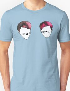 Dan and Phil galaxy whiskers T-Shirt