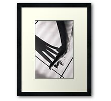 Shadow of hand Framed Print