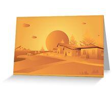 orange Mars Greeting Card