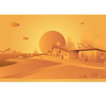 orange Mars Photographic Print