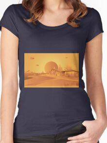 orange Mars Women's Fitted Scoop T-Shirt