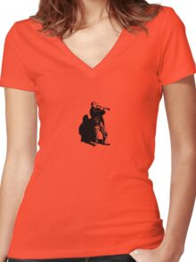 Musician Women's Fitted V-Neck T-Shirt