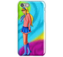 Nice girl iPhone Case/Skin