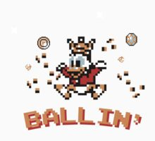 Scrooge McDuck, ballin' - 8bit One Piece - Short Sleeve
