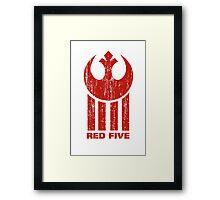 Red Five Framed Print