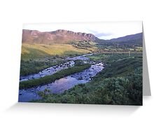 River Caragh Glenbeigh Co Kerry Ireland Greeting Card