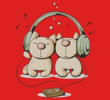 Cats & music Kids Clothes