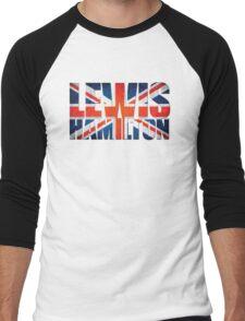 Lewis Hamilton - British Flag Men's Baseball ¾ T-Shirt