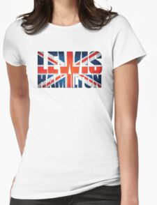 Lewis Hamilton - British Flag Womens Fitted T-Shirt