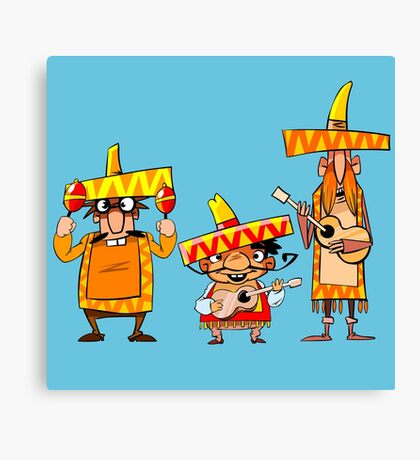 Mexican musicians Canvas Print
