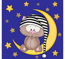 Cat moon dream Photographic Print